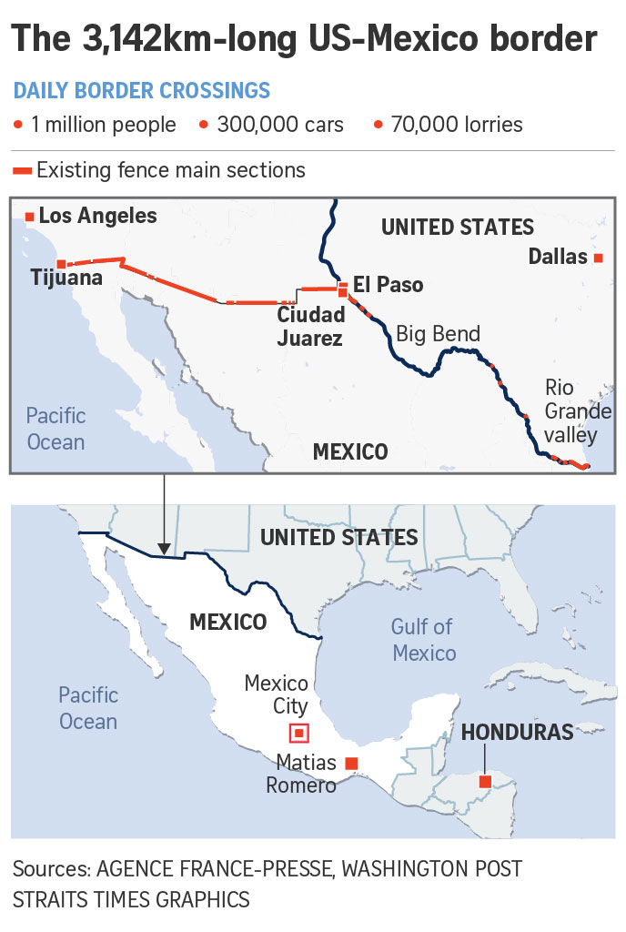 Map Of Us Mexico Border Crossings.Strongman On The Border Musings On Maps Page 5
