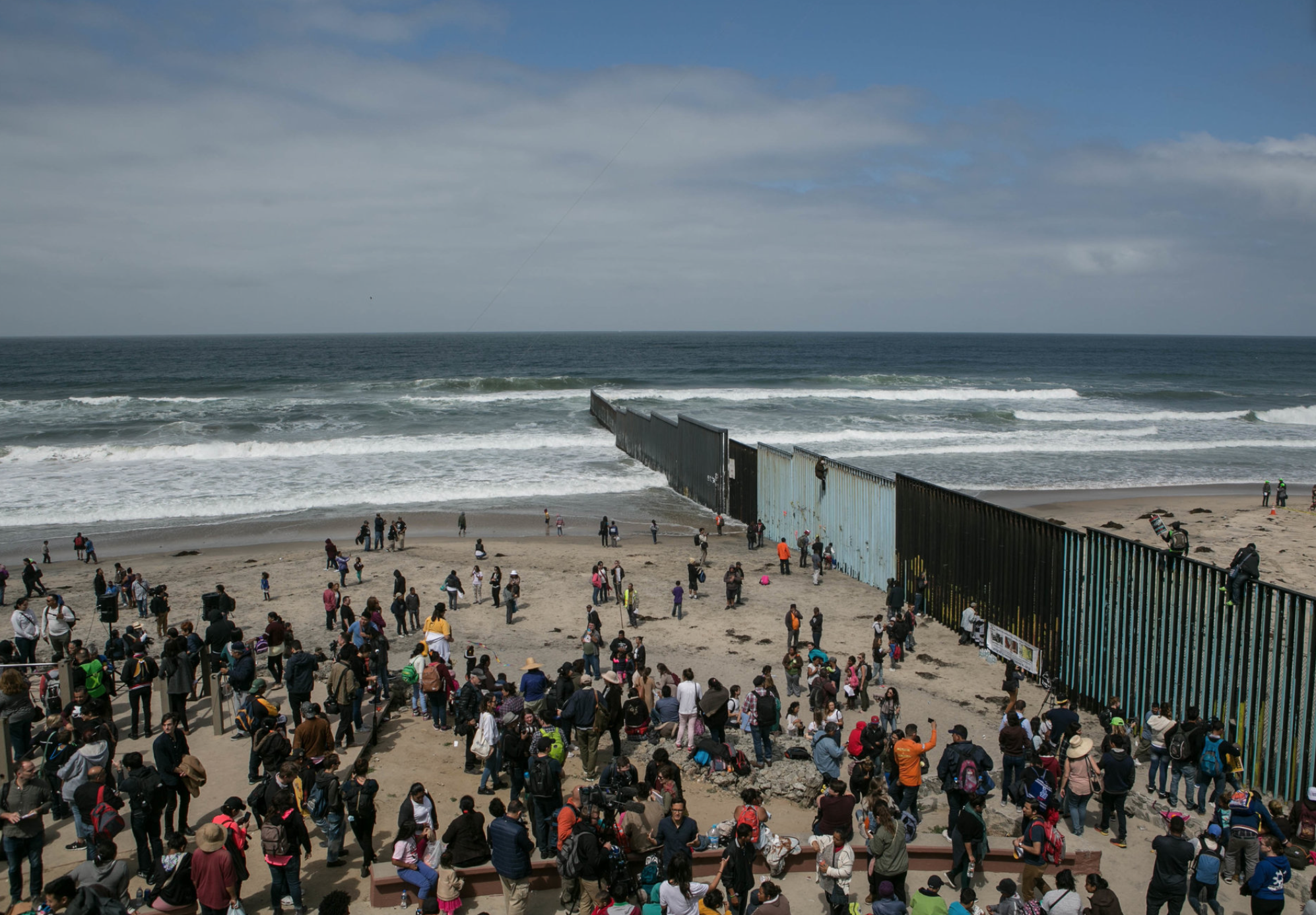 Migrants arrive at Tijuana