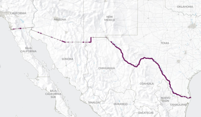 US-Mexico Border Fence | Musings on Maps
